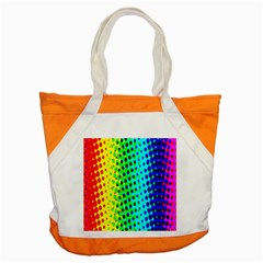 Comic Strip Dots Circle Rainbow Accent Tote Bag by Alisyart