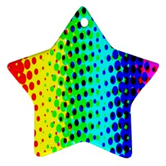 Comic Strip Dots Circle Rainbow Star Ornament (two Sides) by Alisyart