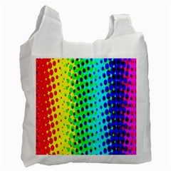 Comic Strip Dots Circle Rainbow Recycle Bag (two Side)  by Alisyart