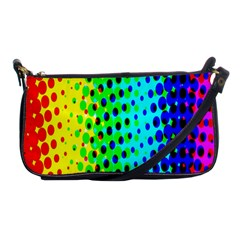 Comic Strip Dots Circle Rainbow Shoulder Clutch Bags