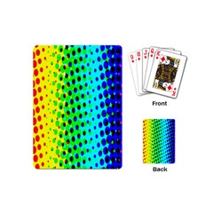 Comic Strip Dots Circle Rainbow Playing Cards (mini)  by Alisyart