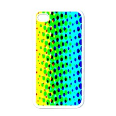 Comic Strip Dots Circle Rainbow Apple Iphone 4 Case (white)