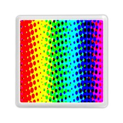 Comic Strip Dots Circle Rainbow Memory Card Reader (square)  by Alisyart