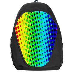 Comic Strip Dots Circle Rainbow Backpack Bag by Alisyart