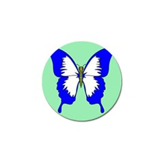 Draw Butterfly Green Blue White Fly Animals Golf Ball Marker (4 Pack) by Alisyart