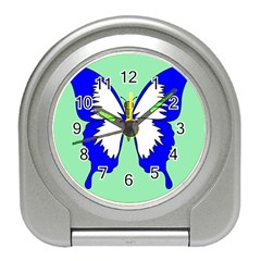 Draw Butterfly Green Blue White Fly Animals Travel Alarm Clocks