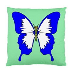 Draw Butterfly Green Blue White Fly Animals Standard Cushion Case (one Side)