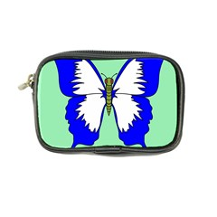Draw Butterfly Green Blue White Fly Animals Coin Purse by Alisyart