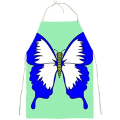 Draw Butterfly Green Blue White Fly Animals Full Print Aprons by Alisyart