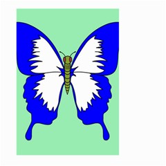 Draw Butterfly Green Blue White Fly Animals Large Garden Flag (two Sides)