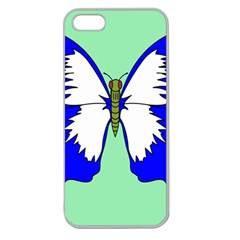Draw Butterfly Green Blue White Fly Animals Apple Seamless Iphone 5 Case (clear) by Alisyart