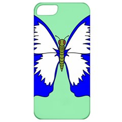 Draw Butterfly Green Blue White Fly Animals Apple Iphone 5 Classic Hardshell Case