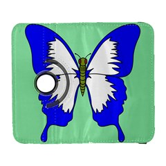 Draw Butterfly Green Blue White Fly Animals Galaxy S3 (flip/folio) by Alisyart