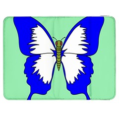 Draw Butterfly Green Blue White Fly Animals Samsung Galaxy Tab 7  P1000 Flip Case by Alisyart