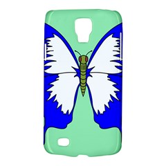 Draw Butterfly Green Blue White Fly Animals Galaxy S4 Active