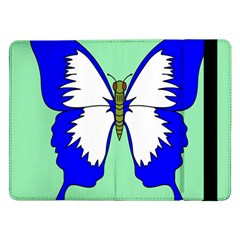 Draw Butterfly Green Blue White Fly Animals Samsung Galaxy Tab Pro 12 2  Flip Case