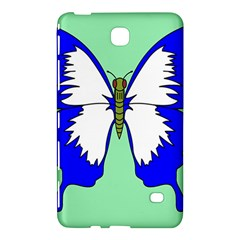 Draw Butterfly Green Blue White Fly Animals Samsung Galaxy Tab 4 (7 ) Hardshell Case  by Alisyart