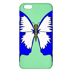 Draw Butterfly Green Blue White Fly Animals Iphone 6 Plus/6s Plus Tpu Case by Alisyart