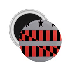 Falg Sign Star Line Black Red 2 25  Magnets by Alisyart