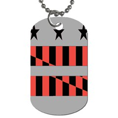 Falg Sign Star Line Black Red Dog Tag (one Side) by Alisyart