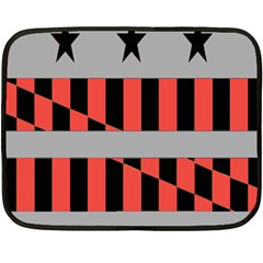 Falg Sign Star Line Black Red Fleece Blanket (mini) by Alisyart