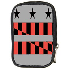 Falg Sign Star Line Black Red Compact Camera Cases by Alisyart
