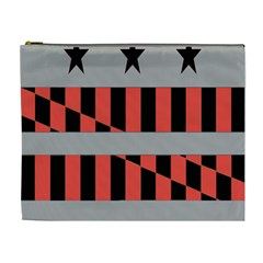 Falg Sign Star Line Black Red Cosmetic Bag (xl)
