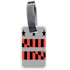 Falg Sign Star Line Black Red Luggage Tags (two Sides) by Alisyart