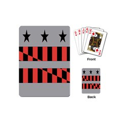 Falg Sign Star Line Black Red Playing Cards (mini)