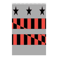 Falg Sign Star Line Black Red Shower Curtain 48  X 72  (small)  by Alisyart