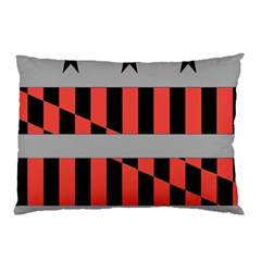 Falg Sign Star Line Black Red Pillow Case (two Sides) by Alisyart