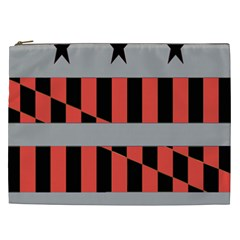 Falg Sign Star Line Black Red Cosmetic Bag (xxl)  by Alisyart