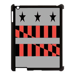 Falg Sign Star Line Black Red Apple Ipad 3/4 Case (black) by Alisyart