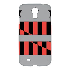 Falg Sign Star Line Black Red Samsung Galaxy S4 I9500/i9505 Hardshell Case by Alisyart