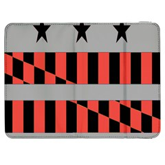 Falg Sign Star Line Black Red Samsung Galaxy Tab 7  P1000 Flip Case