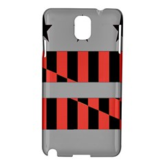 Falg Sign Star Line Black Red Samsung Galaxy Note 3 N9005 Hardshell Case