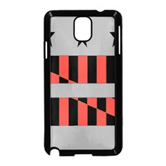Falg Sign Star Line Black Red Samsung Galaxy Note 3 Neo Hardshell Case (black)