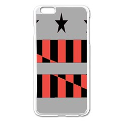 Falg Sign Star Line Black Red Apple Iphone 6 Plus/6s Plus Enamel White Case by Alisyart