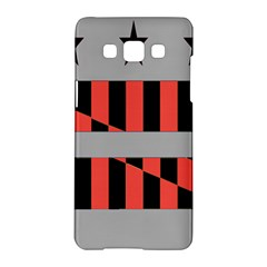 Falg Sign Star Line Black Red Samsung Galaxy A5 Hardshell Case