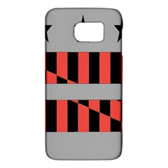 Falg Sign Star Line Black Red Galaxy S6