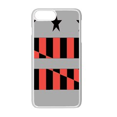 Falg Sign Star Line Black Red Apple Iphone 7 Plus White Seamless Case