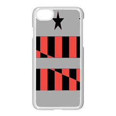 Falg Sign Star Line Black Red Apple Iphone 7 Seamless Case (white) by Alisyart