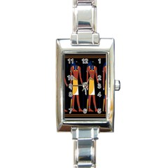Egyptian Mummy Guard Treasure Monster Rectangle Italian Charm Watch by Alisyart