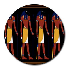 Egyptian Mummy Guard Treasure Monster Round Mousepads