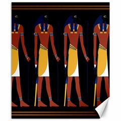 Egyptian Mummy Guard Treasure Monster Canvas 8  X 10  by Alisyart