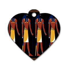 Egyptian Mummy Guard Treasure Monster Dog Tag Heart (one Side)