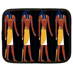 Egyptian Mummy Guard Treasure Monster Netbook Case (xxl)  by Alisyart