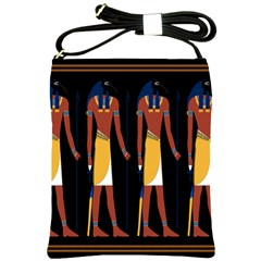 Egyptian Mummy Guard Treasure Monster Shoulder Sling Bags by Alisyart