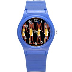 Egyptian Mummy Guard Treasure Monster Round Plastic Sport Watch (s) by Alisyart