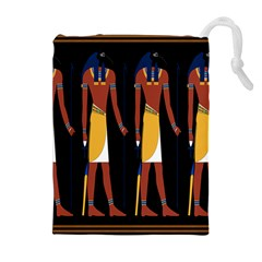 Egyptian Mummy Guard Treasure Monster Drawstring Pouches (extra Large)